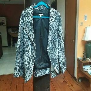 Fun denim leopard print jacket